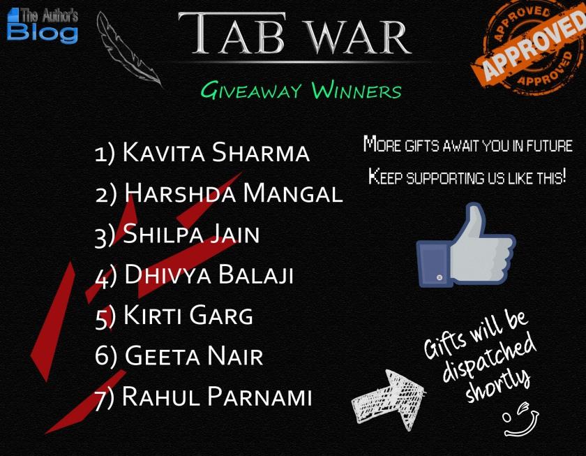 TAB War-Giveaway Winners