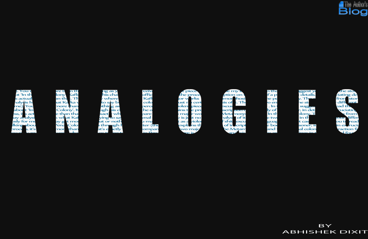 ANALOGIES: COMING SOON