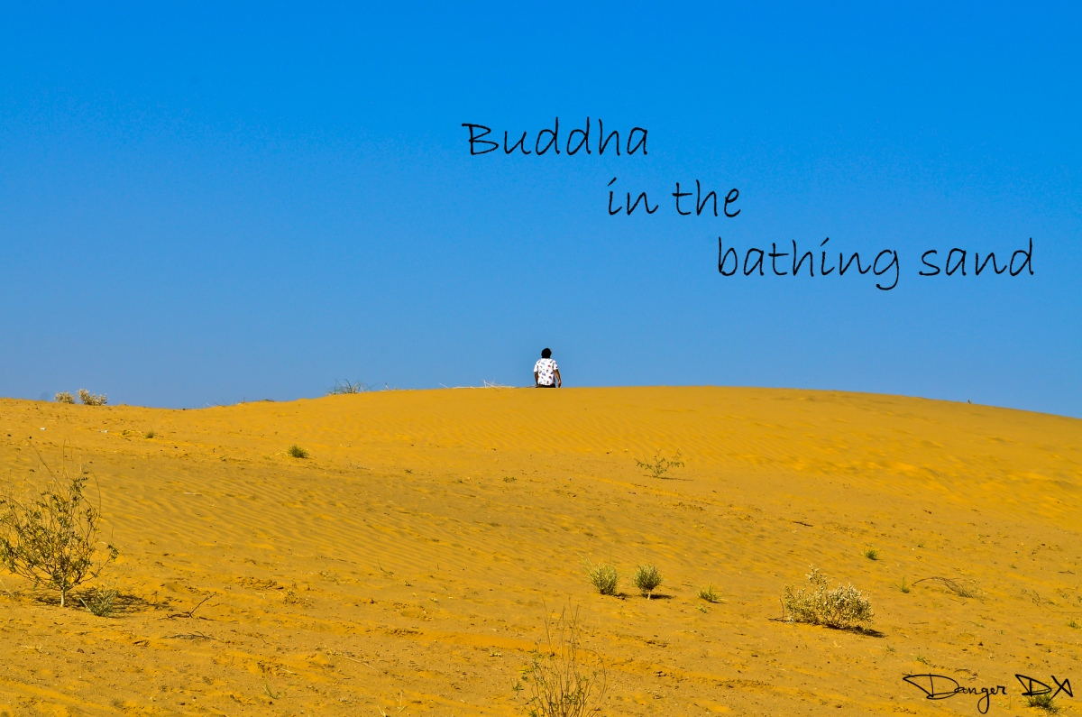 Buddha in the bathing sand